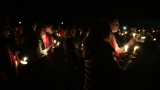Large crowd gathers for slain Seaside officer's vigil
