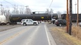 Vehicle clipped by train in Wayne County